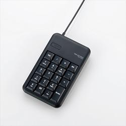 TK-TCM014BK 2ポートUSB2.0ハブ付きコンパクトUSBテンキーパッド