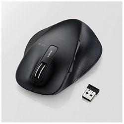 ELECOM(エレコム) M-XGL10DBBK ワイヤレスマウス(BlueLED/2.4GHz/USB/5ボタン/ブラック/PS5対応) [無線マウス・ブルーLED方式]