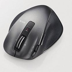 ワイヤレスレーザーマウス[USB 2.4GHz・Mac/Win] M-XGS20DLシリーズ Sサイズ(8ボタン・ブラック) M-XGS20DLBK