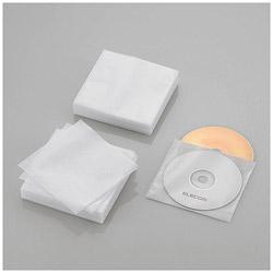 120枚収納 Blu-ray・CD・DVD対応 不織布ケース スタンダード (ホワイト) CCD-NWB120WH