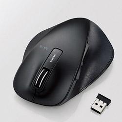 ELECOM(エレコム) M-XGL10DBSBK 静音EX-G ワイヤレスマウス(BlueLED/2.4GHz/USB/5ボタン/Lサイズ/ブラック/PS5対応) [無線マウス・ブルーLED方式]