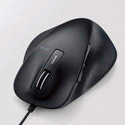 ELECOM(エレコム) M-XGL10UBSBK 静音EX-G 有線マウス(BlueLED/USB/5ボタン/Lサイズ/ブラック/PS5対応) [ブルーLED方式]