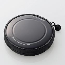 CCD-H12BK CD/DVDファスナーケース(12枚収納/ブラック)