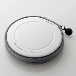 CCD-H12WH CD/DVDファスナーケース(12枚収納/ホワイト)