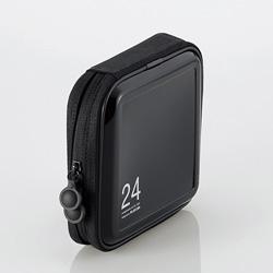 CCD-H24BK CD/DVDファスナーケース(24枚収納/ブラック)