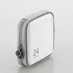 CCD-H24WH CD/DVDファスナーケース(24枚収納/ホワイト)