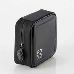 CCD-H52BK CD/DVDファスナーケース(52枚収納/ブラック)