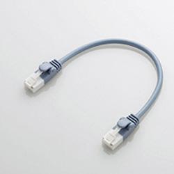 やわらかLANケーブル CAT6 爪折れ防止 0.15m ブルー LDGPYTBU015