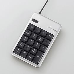 TK-TCM011SV USBテンキーボード(シルバー)