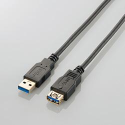 1.0m USB3.0延長ケーブル 【Aオス】⇔【Aメス】(ブラック) USB3-E10BK