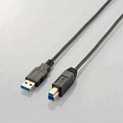USB3-ABX10BK 極細USB3.0ケーブル [USB3.0(Standard-A) - USB3.0(Standard-B)] (1.0m/ブラック)
