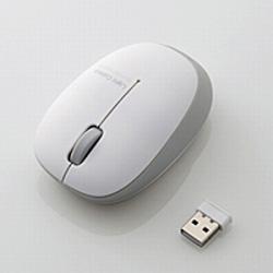 M-BL20DBSV ワイヤレスマウス(BlueLED/2.4GHz/USB/3ボタン/シルバー) [無線マウス・ブルーLED方式]
