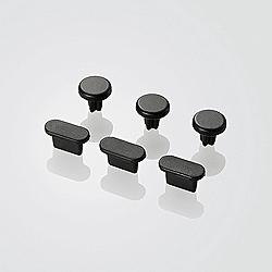 iPhone 5用 イヤホン&Lightningコネクタキャップセット (ブラック) P-ACAST2BK