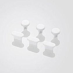 iPhone用 イヤホン&Lightningコネクタキャップセット (3セット入・ホワイト) P-ACAST2WH