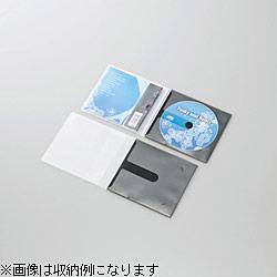 CD/DVD用スリム収納ソフトケース (1枚収納×10セット・ブラック) CCD-DPC10BK