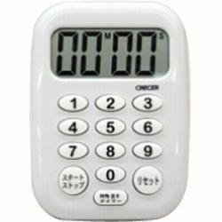 時計付デジタルタイマー 「ビビッド」 CT-500W ホワイト