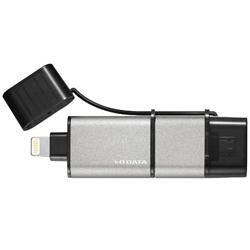 U3-IP2/128GKNEW(128GB) Lightning+microUSB − USB-A 3.0メモリ [iOS/Android/Mac/Win] MFi認証 【iPad/iPhone対応】