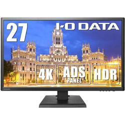 IO DATA(アイオーデータ) KH2750V-UHD 27型ワイド 4K/HDR10対応液晶モニター [3840×2160/ADS/DisplayPort・HDMI×3・VGA] 非光沢