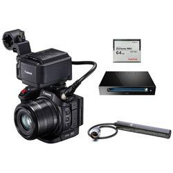 ≪業務用≫Cfast/SD対応4Kビデオカメラ XC15 マイク・メモリーカードキット XC15  [4K対応]