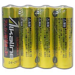 LR6/1.5V4S 単三形アルカリ乾電池4本パック