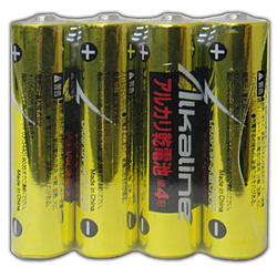 LR03/1.5V4S 単四形アルカリ乾電池4本パック