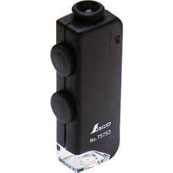 75753 シンワ ルーペH ポケット型顕微鏡 LEDライト付