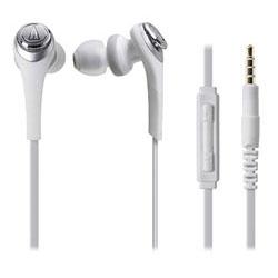 audio-technica(オーディオテクニカ) SOLID BASS(ホワイト)ATH-CKS550i WH(iPod/iPhone/iPad用)【リモコン・マイク対応】【重低音モデル】 カナル型イヤホン