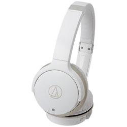 オーディオテクニカ [マイク付]ブルートゥースヘッドホン(ホワイト・シャンパンゴールド) ATH-AR3BT WH
