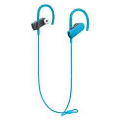 SONICSPORT(ブルー)ATH-SPORT50BT BL【IPX5防水】【リモコン・マイク対応】【スポーツ向け】 ブルートゥースイヤホン 耳かけカナル型