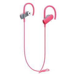 SONICSPORT(ピンク)ATH-SPORT50BT PK【IPX5防水】【リモコン・マイク対応】【スポーツ向け】 ブルートゥースイヤホン 耳かけカナル型