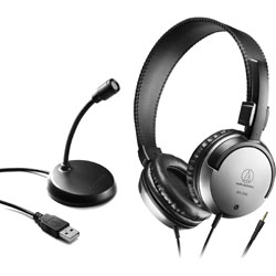 audio-technica(オーディオテクニカ) ヘッドセット+PCマイク   AT9933USB PACK [φ3.5mmミニプラグ /両耳 /ヘッドバンドタイプ]