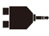 オーディオ変換プラグ(ステレオミニ⇔RCA×2) ATL424CS