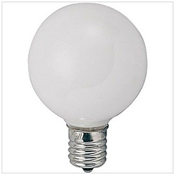 ボール電球 G50[口金E17 /40W] G50E17110V40WW ホワイト [E17]