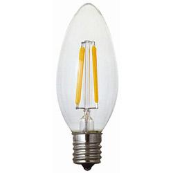 LEDフィラメント電球 シャンデリ球型 40WE12 LDC4LC40WE12T2 LDC4LC40WE12T2 [E12 /電球色]