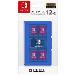 カードケース12+2 for Nintendo Switch ブルー 【Switch】 [NSW-022]