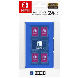 カードケース24+2 for Nintendo Switch ブルー 【Switch】 [NSW-026]