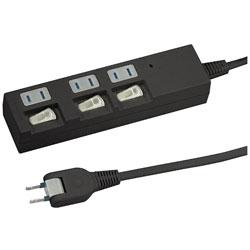 個別スイッチ付節電タップ (3個口 1m・黒)BKS331BK 【ビックカメラグループオリジナル】