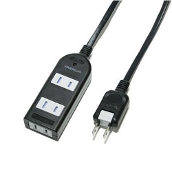 ノイズフィルター付AV機器タップ3個口3m Y02KNS303BK