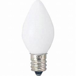 C71207W ローソク球(E12口金/ホワイト)
