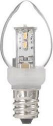 LDC1LG23E12 ローソク形LEDランプ(電球色/E12口金/全光束25lm/クリア)