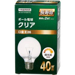 GC100110V38W70L ボール電球40W形クリア 長寿命(Φ70mm)