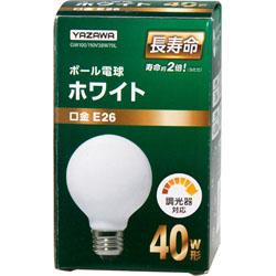 GW100110V38W70L ボール電球40W形ホワイト 長寿命(Φ70mm)