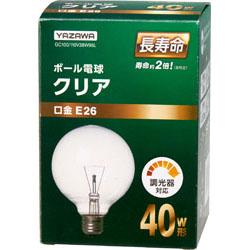 GC100110V38W95L ボール電球40W形クリア 長寿命(Φ95mm)