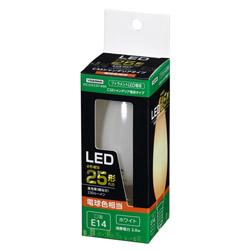 C32シャンデリア形LED E14 L色 WH 25W形相当 LDC2LG32E14WH