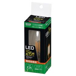 C36シャンデリア形LED E26 L色 CL 25W形相当 LDC2LG36C