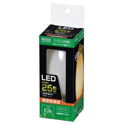 C36シャンデリア形LED E26 L色 WH 25W形相当 LDC2LG36WH