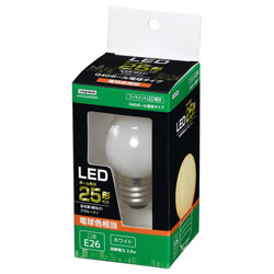 G40ボール形LED E26 L色 WH 25W形相当 LDG2LG40WH