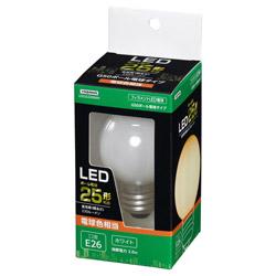 G50ボール形LED E26 L色 WH 25W形相当 LDG2LG50WH