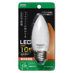 C36シャンデリア形LED E26 L色 WH 10W形相当 LDC1LG36WH