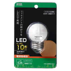 G40ボール形LED E26 L色 WH 10W形相当 LDG1LG40WH